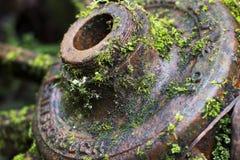Rdzewiejący metalu koła wrzeciono Obrazy Royalty Free