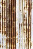 Rdzewieję galwanizował żelazo talerza Fotografia Stock