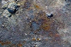 Rdzewieję pokrywał pęcherzami farba textured tło Fotografia Stock