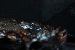 Rdzewiejąca aluminiowa folia Fotografia Stock
