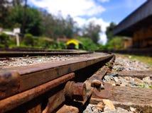 Rdzewiejąca linia kolejowa Obraz Royalty Free