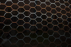 Rdzewiejący druciany ogrodzenie Obraz Stock