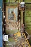 Rdzewiejący elektryczny panel Obraz Stock