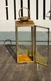 Rdzewiejący ogrodowy lampion Zdjęcie Royalty Free