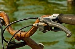 Rdzewiejący Rowerowi Handlebars Fotografia Royalty Free