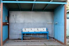 Rdzewiejący washbasins Fotografia Royalty Free