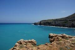 Śródziemnomorski nabrzeżny krajobrazowy Crete, Grecja Zdjęcie Stock