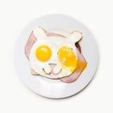 Reírse los huevos Foto de archivo libre de regalías