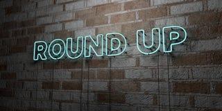 REÚNA - señal de neón que brilla intensamente en la pared de la cantería - el ejemplo común libre rendido 3D de los derechos libre illustration