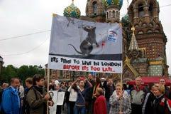 Reúnase para las elecciones justas en St Petersburg, Rusia Imagen de archivo