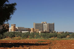 Re Abdullah University Hospital immagine stock libera da diritti