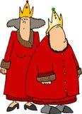 Re & regina rossi illustrazione vettoriale
