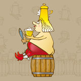 Re Beer Royalty Illustrazione gratis