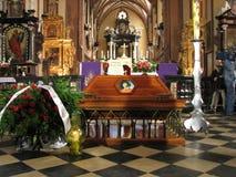 Re-begrafenis van Copernicus Nicolaus in Frombork Royalty-vrije Stock Fotografie