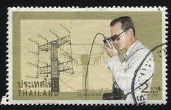 Re Bhumibol Adulyadej di segnalatore Fotografie Stock Libere da Diritti
