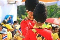 Re Bhumibol Crest di Rama IX, sulla sua ottantaseesima celebrazione di compleanno immagine stock