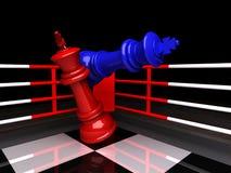 Re blu di scacchi è dato scacco matto, rappresentazione 3D illustrazione vettoriale