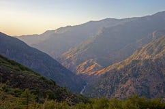 Re Canyon Sunset Immagine Stock Libera da Diritti