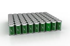 Re chargeable battery Stock Photos