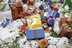 Re Christmas Gifts Immagine Stock