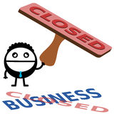 We're closed Royalty Free Stock Images