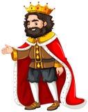 Re con l'abito rosso illustrazione di stock