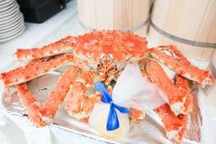 Re cotto a vapore caldo Crab fotografie stock libere da diritti