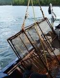 Re d'Alasca di cattura Crab Fotografia Stock Libera da Diritti