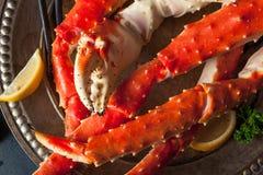 Re d'Alasca organico cucinato Crab Legs immagini stock libere da diritti