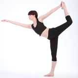 Re Dancer Pose di yoga dalla bella donna di forma fisica Immagine Stock Libera da Diritti