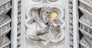 Re David, portale di Florence Cathedral Fotografia Stock Libera da Diritti