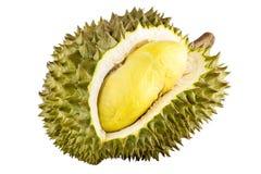 Re dei frutti, durian isolato su fondo bianco, durian è i frutti puzzolente Fotografia Stock