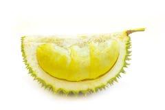 Re dei frutti, gambo lungo del durian, su fondo bianco fotografia stock