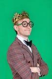 Re dei nerd immagini stock