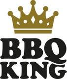 Re del BBQ con la corona Immagini Stock Libere da Diritti