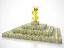 Re del dollaro Immagini Stock Libere da Diritti
