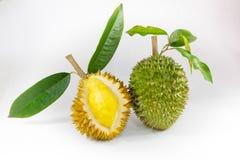Re del durian di frutti su fondo bianco Immagini Stock Libere da Diritti