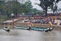 Re del festival lungo di corsa di barca dei Nagas, questo evento è stato l'orgoglio di Tanintharyi per fotografie stock