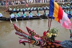 Re del festival lungo di corsa di barca dei Nagas, questo evento è stato l'orgoglio di Tanintharyi per immagini stock libere da diritti