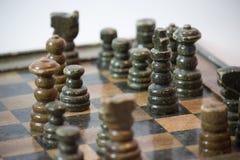 Re dell'insieme di scacchi con il fuoco selettivo Immagini Stock Libere da Diritti