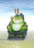 Re della rana Immagini Stock