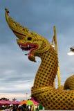 Re della scultura dei Nagas Fotografia Stock