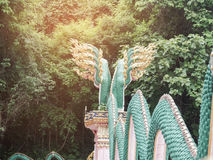 Re della statua di Nagas Immagine Stock