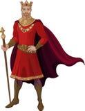 Re di fantasia nel rosso royalty illustrazione gratis