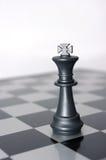 Re di scacchi da solo sul batllefield Fotografie Stock