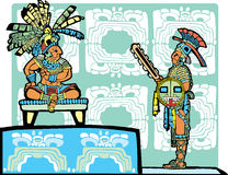 Re e guerriero Mayan Fotografia Stock