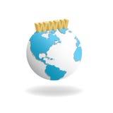 Re Earth WWW illustrazione di stock