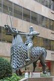 Re Edgar Equestrian Statue fotografia stock