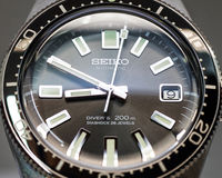 Re-edition of Seiko 62MAS Close-up. Close-up of Seiko 62MAS Re-edition Royalty Free Stock Images