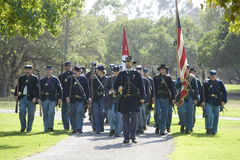 Re-Enactment 24 da guerra civil - marcha da união Imagens de Stock Royalty Free
